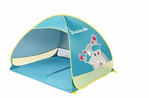 Badabulle B038203 StrandmuschelStrandzelt fuer Kinder und die ganze Familie UV Schutz 500x330 - Badabulle B038203 Strandmuschel/Strandzelt für Kinder und die ganze Familie, UV-Schutz 50 Plus, Maxi-Format, Pop-Up-System, mehrfarbig