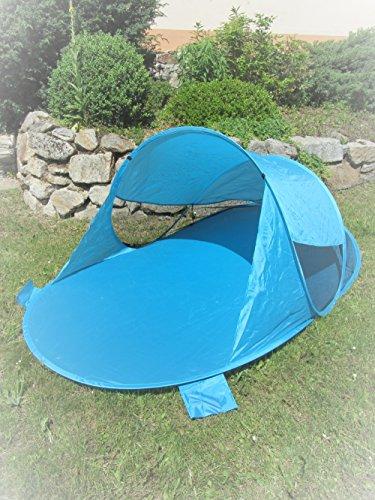 IMC Manufactoria Pop-Up Strandmuschel blau Wurf-Zelt Strand Camping Sonnen-Schutz Wind türkis